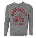 NFL KANSAS CITY CHIEFS Grey Junk Food Crewneck Sweatshirt