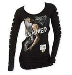 The WALKING DEAD Women's Slashed Long Sleeve Claimed Shirt