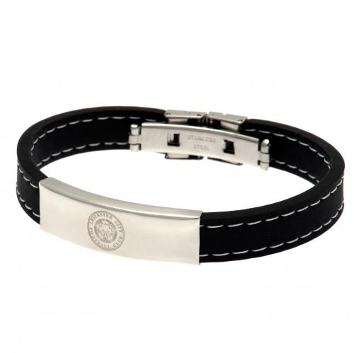 Leicester City F.C. Stitched Silicone Bracelet