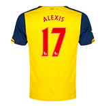 2014-15 Arsenal Away Shirt (Alexis 17) - Kids