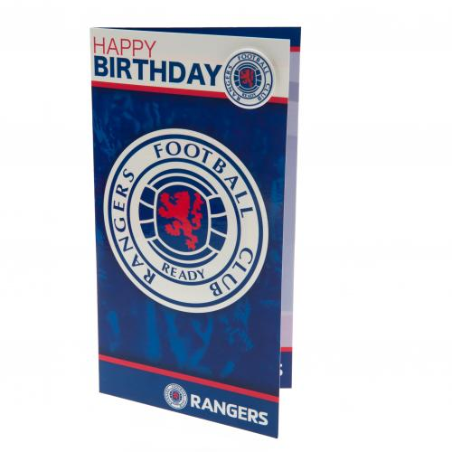 Rangers F.C. Birthday Card and Badge