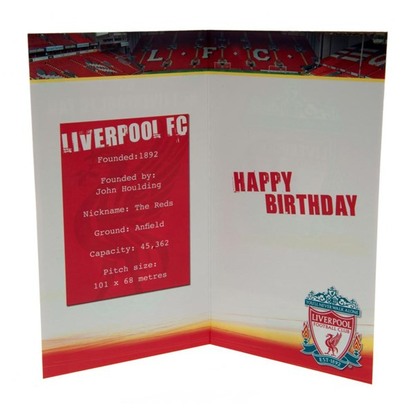 Liverpool F.C. Birthday Card No 1 Fan