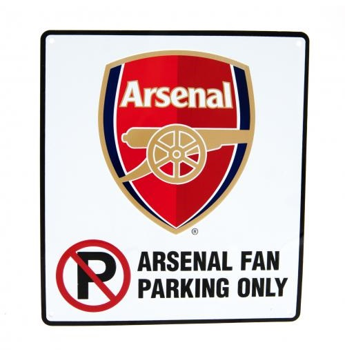 Arsenal F.C. No Parking Sign