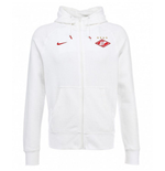 2014-2015 Spartak Moscow Nike Authentic Full Zip Hoody (White)