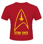 Star Trek T-shirt Badge Logo (CHERRY)