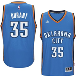 Mens Oklahoma City Thunder Kevin Durant adidas Light Blue New Swingman Road Jersey