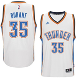 Mens Oklahoma City Thunder Kevin Durant adidas White New Swingman Home Jersey
