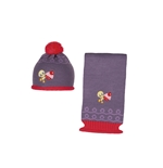 Baby Looney Tunes Scarf and Cap Set 124576
