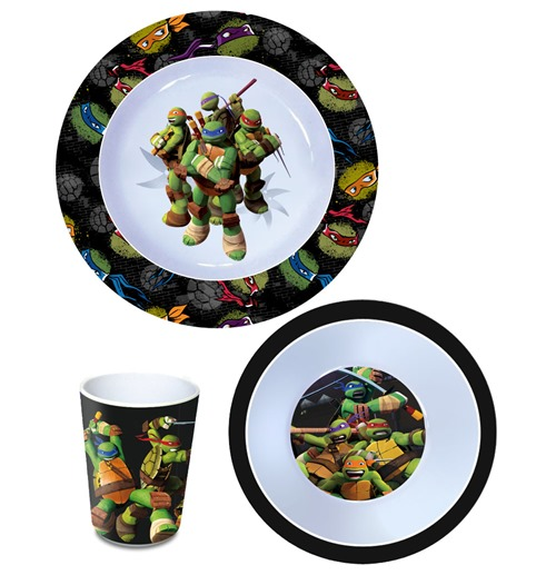 Teenage Mutant Ninja Turtles Breakfast Set Melamine