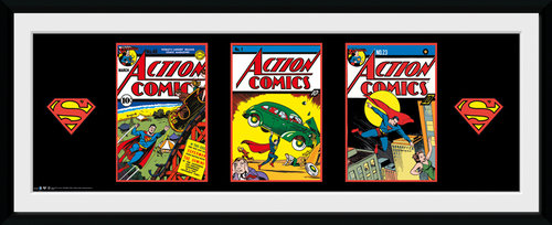 Superman Comics Framed Collector Print