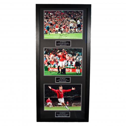 Manchester United F.C. Treble Winners Signed Framed Prints