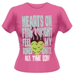 All Time Low T-shirt Hearts On Fire