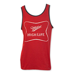 MILLER High Life Red Men's White Logo Tank Top