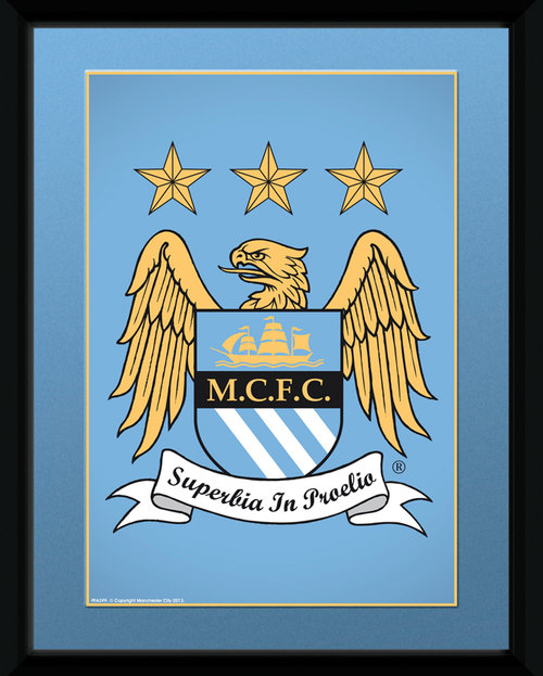 Manchester City Club Crest Framed Collector Print