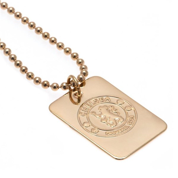 Chelsea F.C. Gold Plated Dog Tag and Chain