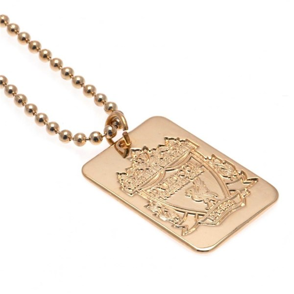 Liverpool F.C. Gold Plated Dog Tag and Chain