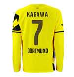 2014-15 Borussia Dortmund Long Sleeve Home Shirt (Kagawa 7)