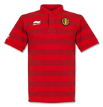 2014-15 Belgium Stripe Travel Polo Shirt (Red)