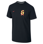2014-15 Spain Nike Iniesta Hero Tee (Black) - Kids