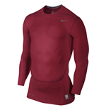 Nike Core Compression 2.0 Long Sleeve Top (Red)
