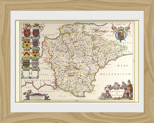 Maps Devon Framed Photographic Print
