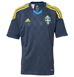 2013-14 Sweden Adidas Away Football Shirt (Kids)