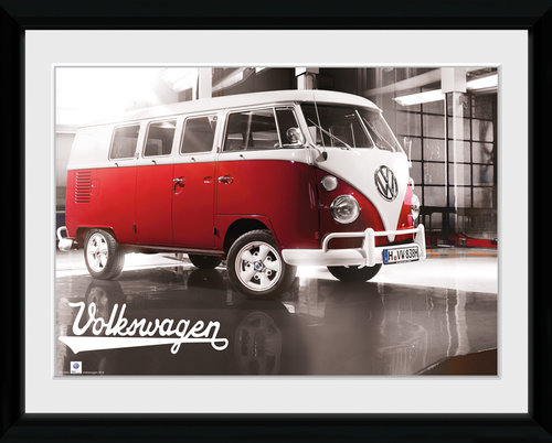 VW Camper Warehouse Framed Collector Print