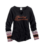 Harley Davidson Long sleeves T-shirt 128007