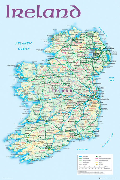 World map official merchandise gadgets tshirts ireland map 2012 maxi poster gumiabroncs Images