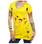 POKEMON Pikachu Women's Yellow V-Neck Tee