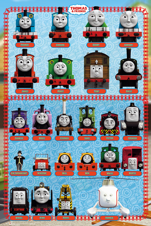 Thomas and Friends Characters Maxi Poster