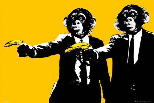Monkeys Bananas Maxi Poster