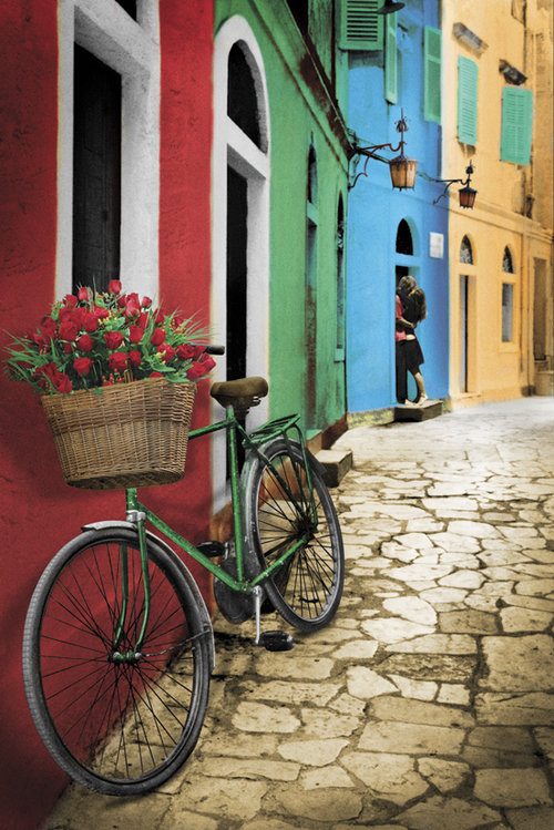 Bike Flowers Maxi Poster