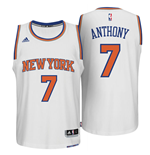 Mens New York Knicks Carmelo Anthony adidas White New Swingman Home Jersey