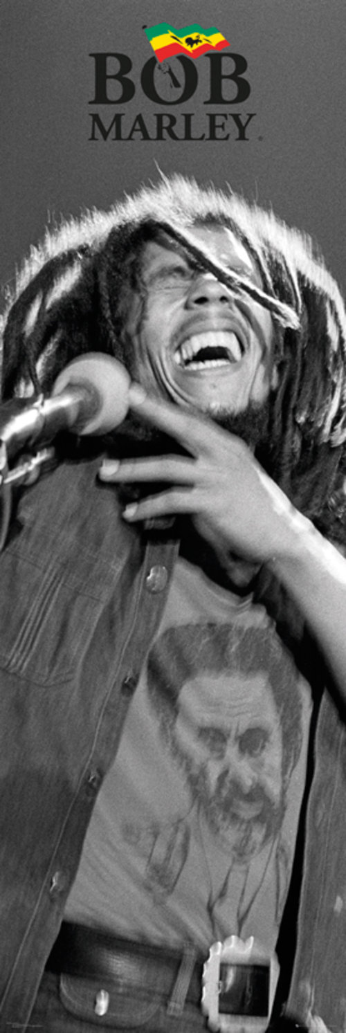 Bob Marley Black and White Door Poster