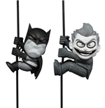 DC Comics Scalers Mini Figures 2-Pack Black & White Batman & Joker SDCC 2014 Exclusive 5 cm
