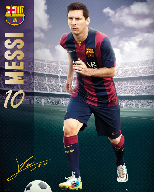 Barcelona Messi 14/15 Mini Poster