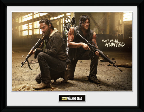 The Walking Dead Rick and Daryl Hunt Framed Collector Print
