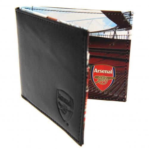 Arsenal F.C. Embossed Leather Wallet Panoramic 801