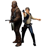 Star Wars ARTFX+ Statue 2-Pack Han Solo & Chewbacca 18 cm