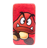 NINTENDO Super Mario Bros. Goomba Hinge Purse Wallet, Gliter Red