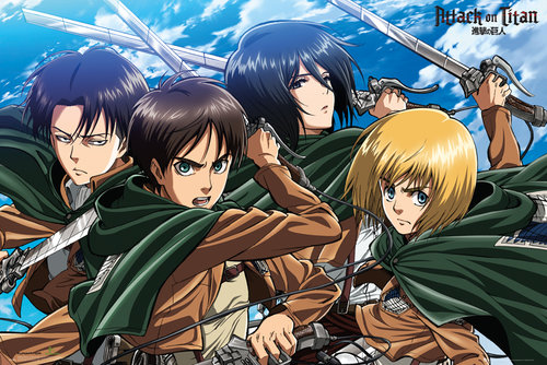 Attack on Titan Four Swords Maxi Poster