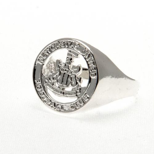 Newcastle United F.C. Silver Plated Crest Ring Medium
