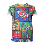 NINTENDO Super Mario Bros. All-Over Mario and Co Medium T-Shirt