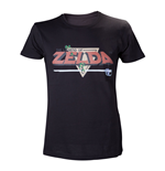NINTENDO Legend of Zelda Classic Retro Pixelated Logo Extra Large T-Shirt, Black