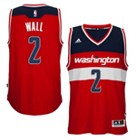 Mens Washington Wizards John Wall adidas Red New Swingman Road Jersey