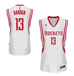 Mens Houston Rockets James Harden adidas White New Swingman Home Jersey