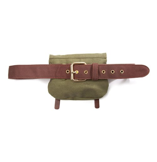 NINTENDO Legend of Zelda Brown Canvas Belt with Green Link Satchel, 115cm, Large