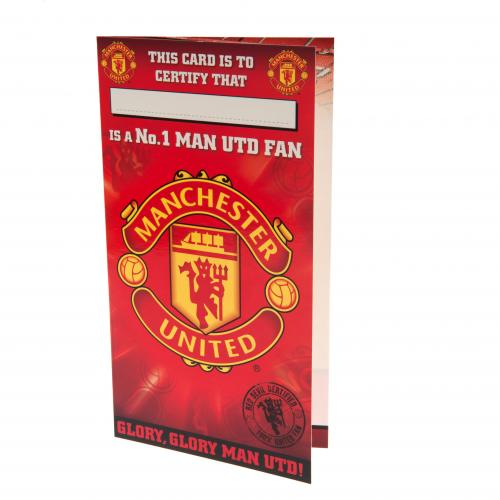 Manchester United F.C. Birthday Card No 1 Fan