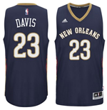 Mens New Orleans Pelicans Anthony Davis adidas Navy Blue New Swingman Road Jersey